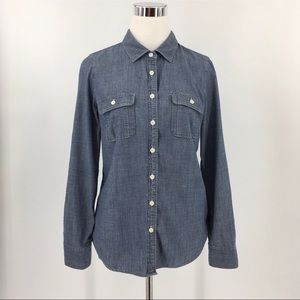 J.Crew The Perfect Shirt Denim Button-Down Shirt